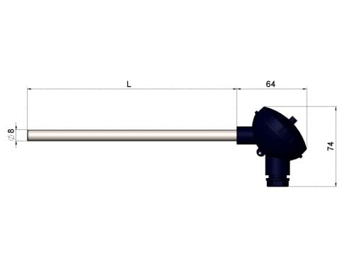 чертеж термопары (преобразователя термоэлектрического) 1199/120 - ТД Энергоприбор