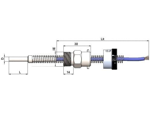чертеж термометра (термопреобразователя) сопротивления 1199/46 - ТД Энергоприбор