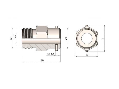 фото штуцера для термометра 1199/46 - ТД Энергоприбор
