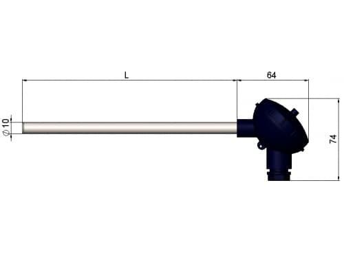 чертеж термопары (преобразователя термоэлектрического) 1199/12 - ТД Энергоприбор