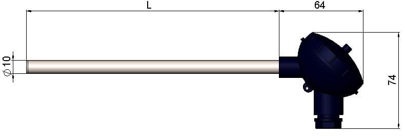 чертеж термопары ТП-1199/12 - ТД Энергоприбор