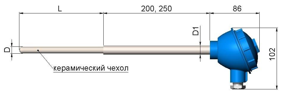 фото термопары (преобразователя термоэлектрического) 1199/34 - ТД Энергоприбор