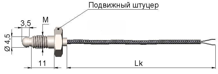 фото термопары (преобразователя термоэлектрического) 1199/47 - ТД Энергоприбор